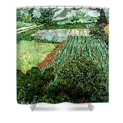 Field With Poppies Shower Curtain