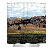 Fields And Folds Shower Curtain
