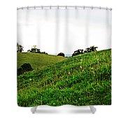 Fields In Glastonbury Shower Curtain