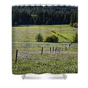Fields Of Blue Shower Curtain