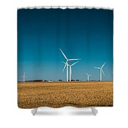 Fields Of Energy Shower Curtain