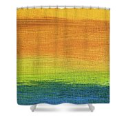 Fields Of Gold 1 - Abstract Summer Landscape Painting Shower Curtain
