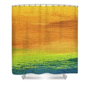Fields Of Gold 2 - Abstract Summer Landscape Painting Shower Curtain