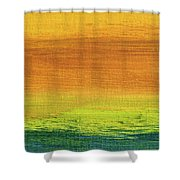 Fields Of Gold 3 - Abstract Summer Landscape Painting Shower Curtain