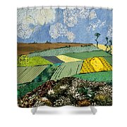 Fields To Gogh Shower Curtain