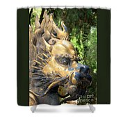 Fierce Foo Dog Face Shower Curtain