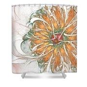 Fiery Chrysanthemum Shower Curtain