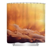 Fiery Cloudscape Shower Curtain
