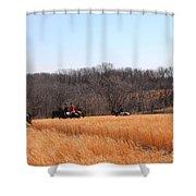 Fiery February  Shower Curtain