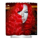 Fiery Femme Fatale  Shower Curtain