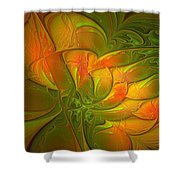 Fiery Glow Shower Curtain