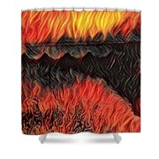 A Hot Valley Of Flames Shower Curtain