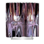 Fiery Ice Shower Curtain