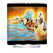 Fiery Justice Shower Curtain