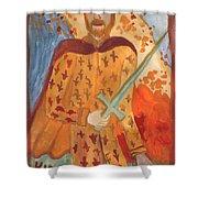 Fiery King Of Swords Shower Curtain