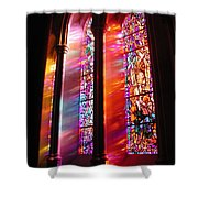Fiery Light 1 Shower Curtain