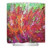 Fiery Meadow Shower Curtain