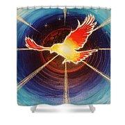 Fiery Raven Shower Curtain