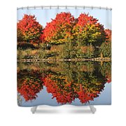 Fiery Reflections Shower Curtain