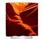 Fiery Sandstone Abstract Shower Curtain