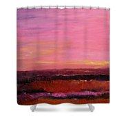Sold Fiery Sea Shower Curtain