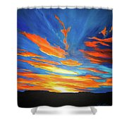 Fiery Skies Shower Curtain