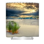 Fiery Sunrise At White Sands Shower Curtain