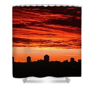 Fiery Sunrise Shower Curtain