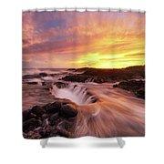 Fiery Sunset Shower Curtain
