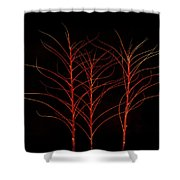 Fiery Trees Shower Curtain