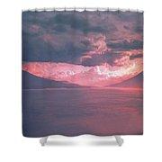 Fiery Volcano Shower Curtain
