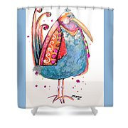 Fiesta Bird Shower Curtain