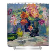 Fiesta Of Flowers - Vibrant Original Impressionist Oil Painting Shower Curtain