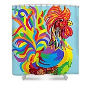 Fiesta Rooster Shower Curtain