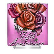 Fifth Anniversary Shower Curtain