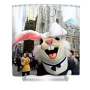 Fifth Ave Easter Bunny Shower Curtain