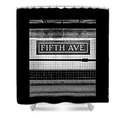 Fifth Ave Subway Shower Curtain
