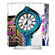 Fifth Avenue Building Clock New York  Shower Curtain