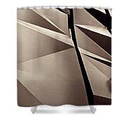 Fifth Avenue Details Sepia Shower Curtain