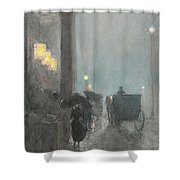 Fifth Avenue, Evening Shower Curtain