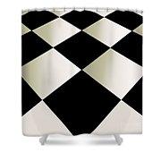 Fifties Kitchen Checkerboard Floor Shower Curtain