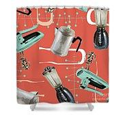Fifties Kitchen Iv Shower Curtain