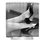 Fifties Tv Shower Curtain