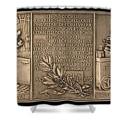 Fiftieth Anniversary Of The Christofle Company, 1842-1892 [reverse] Shower Curtain
