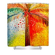 Fig Palm Sunset Shower Curtain