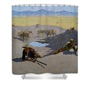 Fight For The Waterhole Shower Curtain