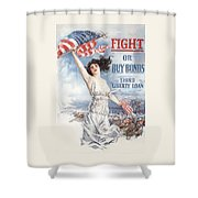 Fight Or Buy Bonds Shower Curtain