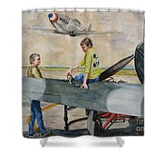 Fighter Dreams Shower Curtain