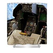 Fighter Jet Cockpit 01 Shower Curtain