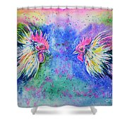 Fighting Cocks Shower Curtain
